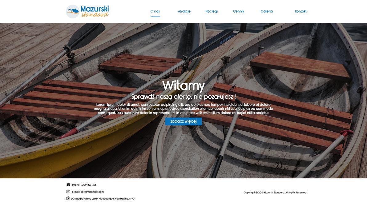 Mazurskie standardy website by Micel081
