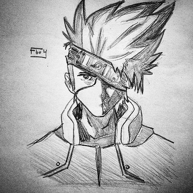 draw kakashi by fboy by fboy9