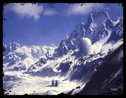 Frozen Mountain by moonworker1