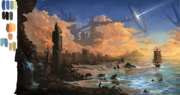 shoreline by moonworker1
