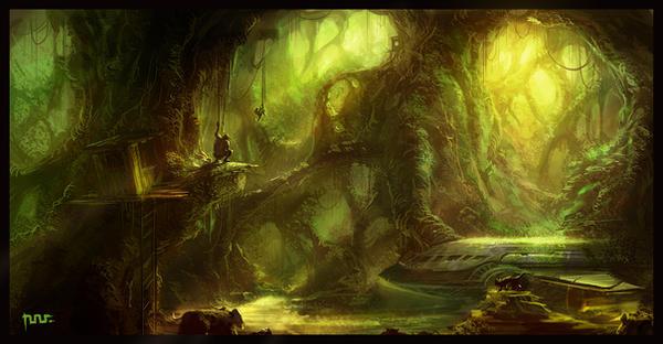 Tazan in Jungle by moonworker1