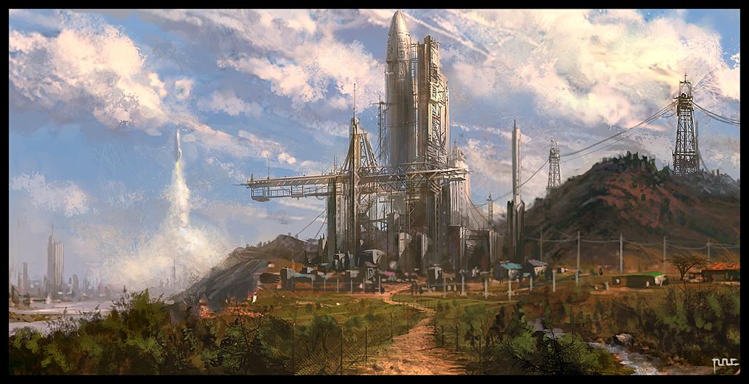 Rocket platform by moonworker1