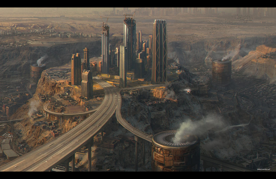 Industrial cityscape1 by moonworker1
