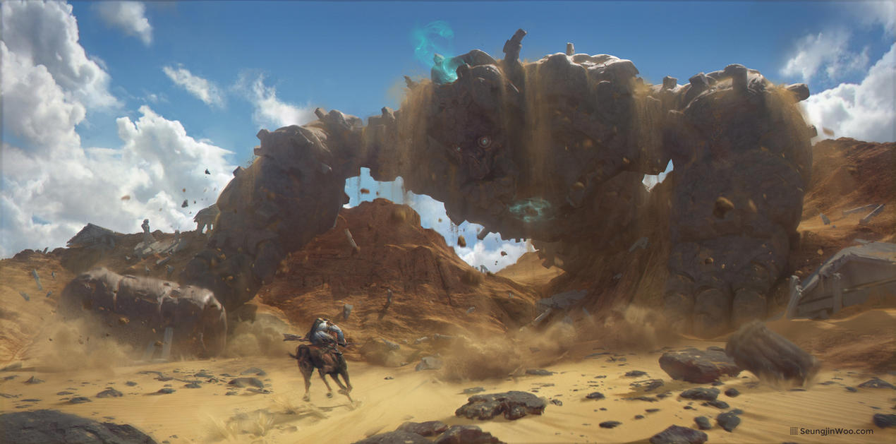 Desert Colossus by moonworker1