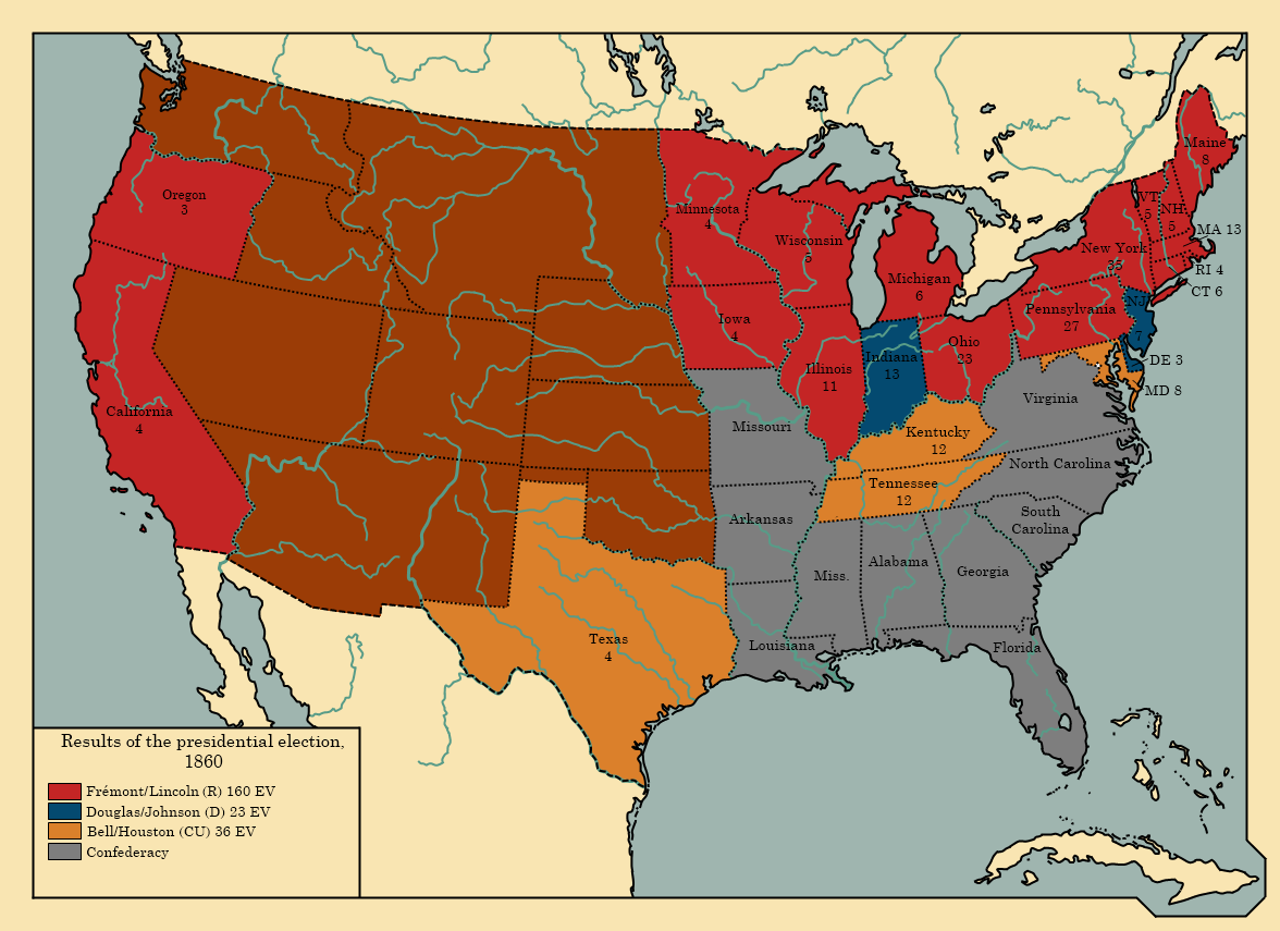 a history of the 1860 election in the united states The 1860 election that made abraham lincoln president is sometimes   although history is, of course, the study of what did happen, the facts of the 1860   at the end of 1845, the united states annexed texas, touching off a dispute  with.