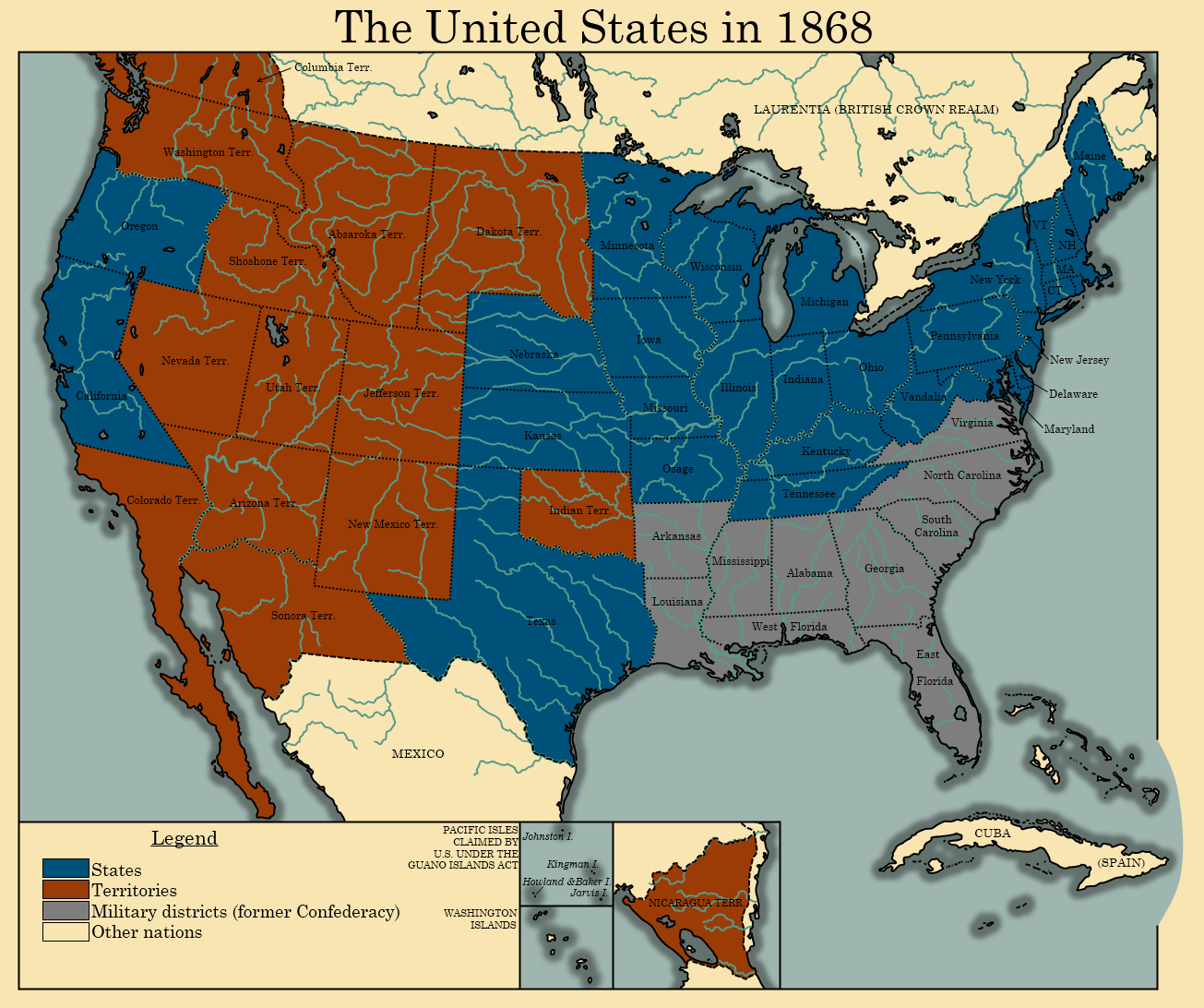 The United States in 1868 by TheAresProject on DeviantArt