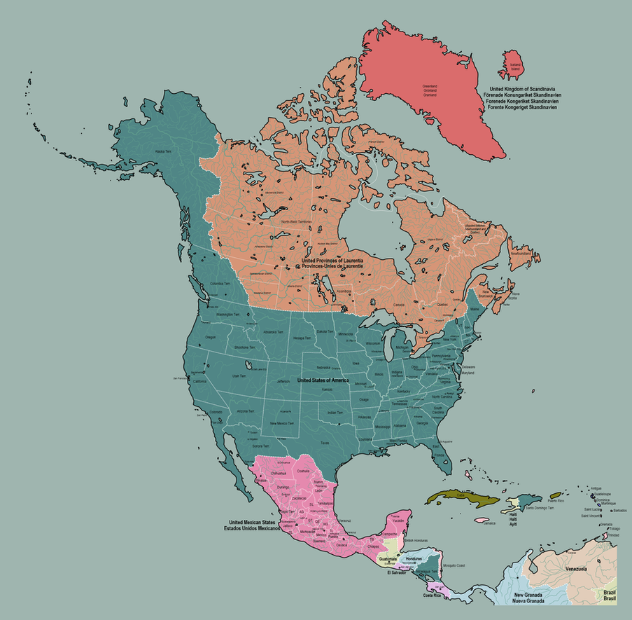 North America in 1882 by TheAresProject