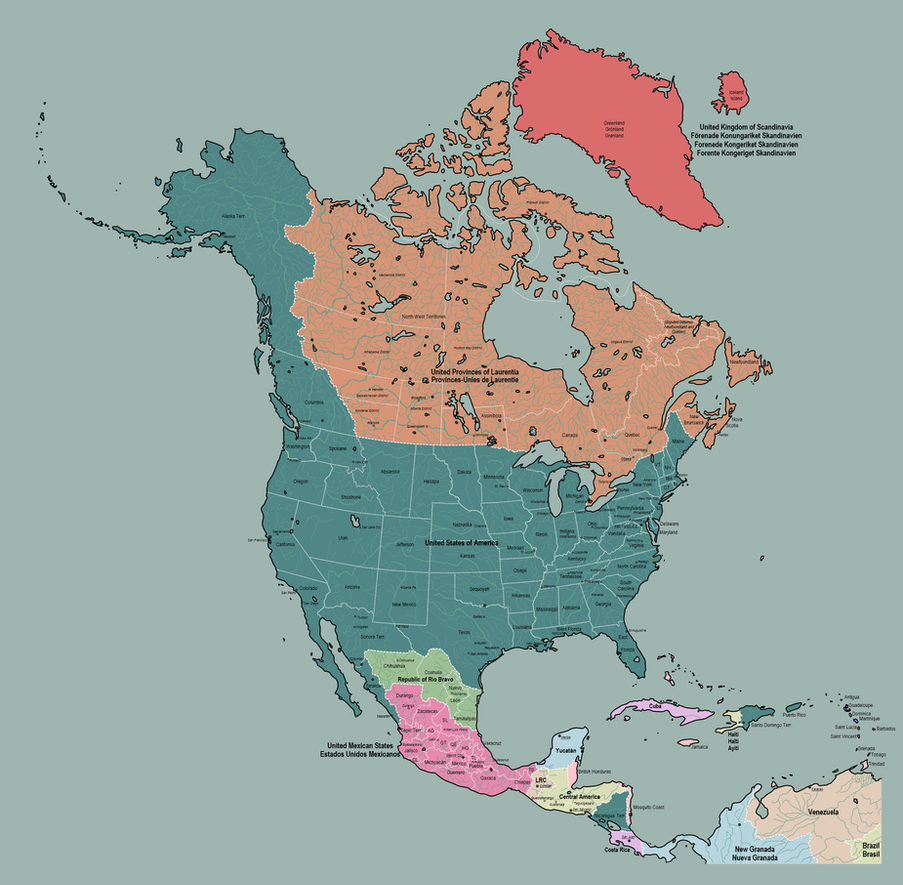 North America in 1920 by TheAresProject on DeviantArt