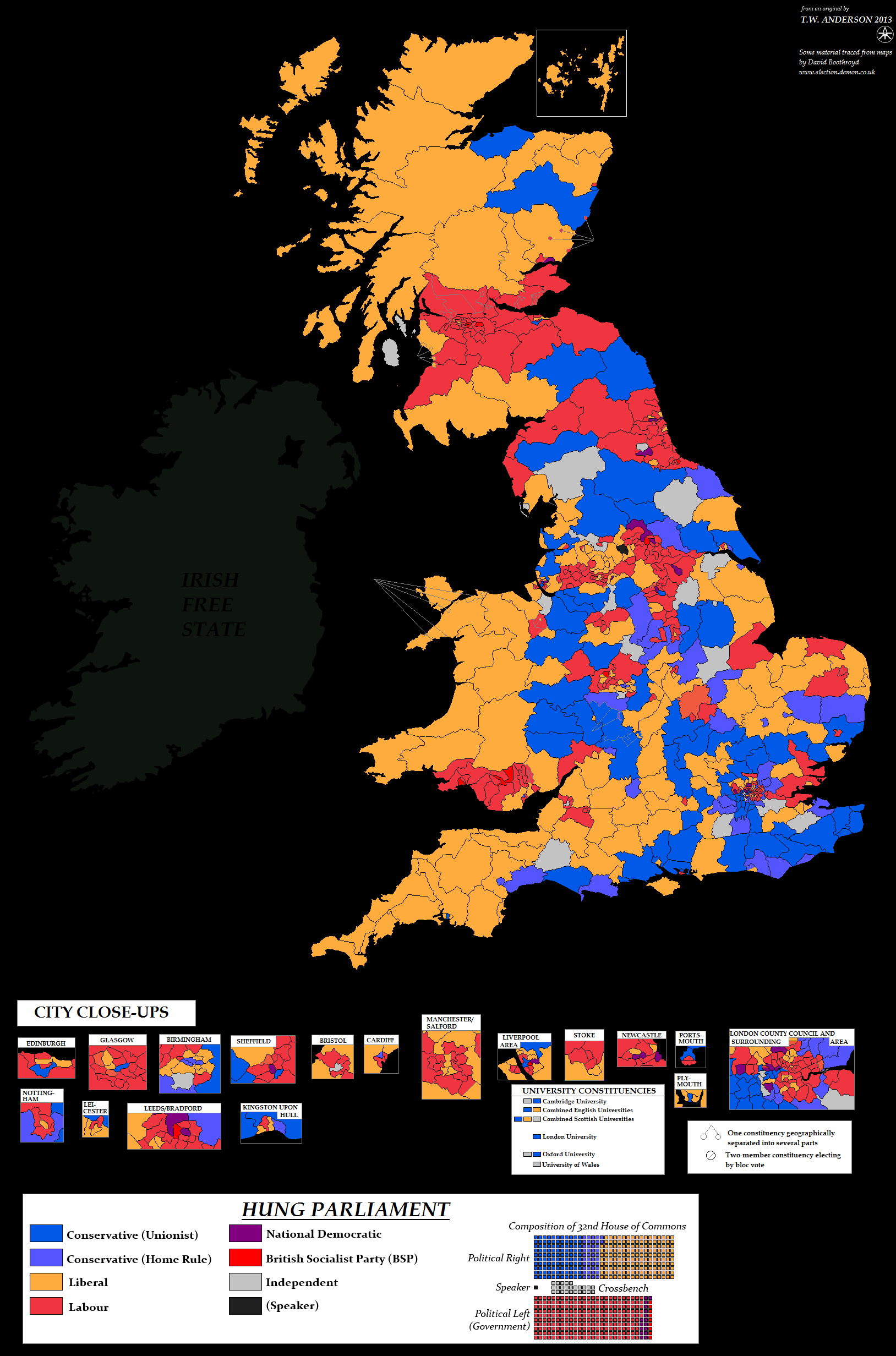 United Kingdom general election, 1922 by TheAresProject