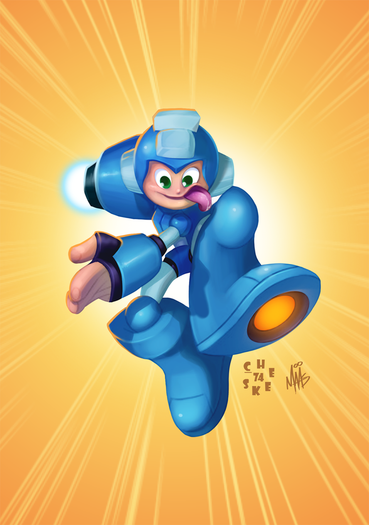 Megaman by thisisnotnoah