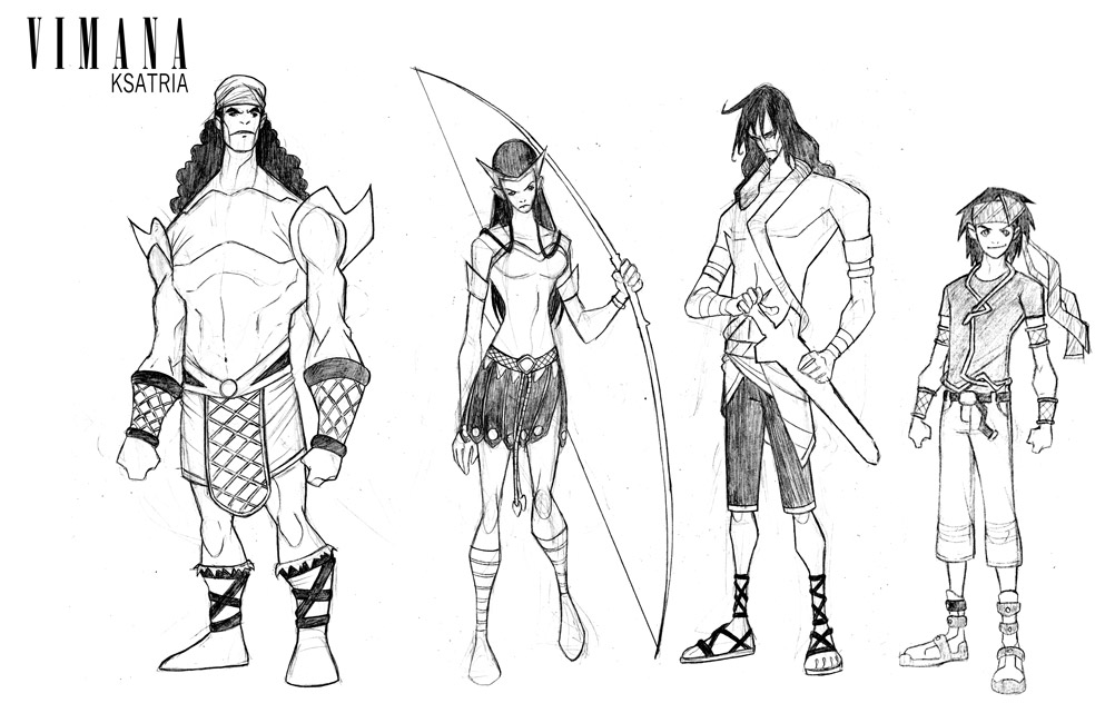 Vimana Character Design - Ksatria by arakbalistudio on DeviantArt