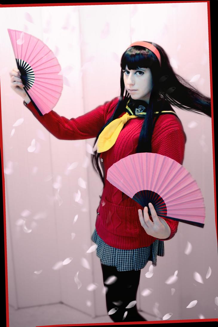 Yukiko Amagi - Cherry Blossoms by CauldronOfMischief