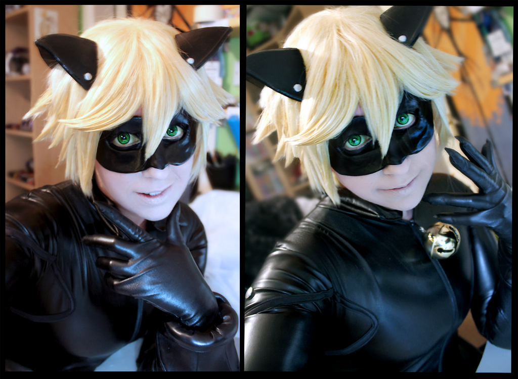 Chat Noir - Make up / Cosplay test by CauldronOfMischief