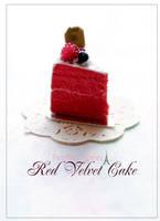 Red Velvet Cake Miniature by PetitDeCherries