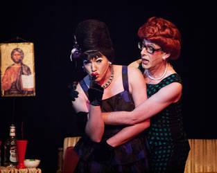Oy Vey in a Manger: Trampolina and Winnie by SaroB-W