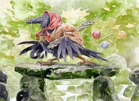 Grandma Crow by 3-hares
