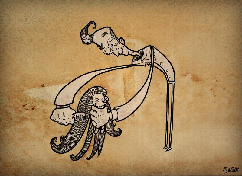 strange comb guy by Nedelja