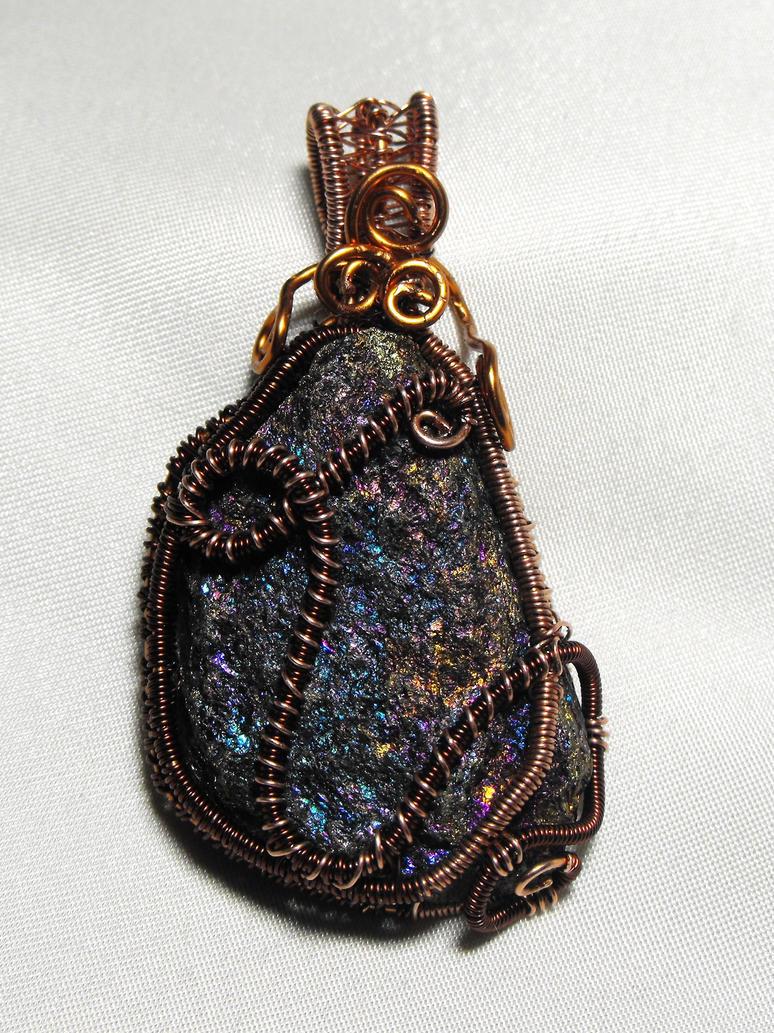 Chalcopyrite pendant by MeFlyingFree
