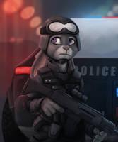Zootopia SWAT by flakjackal