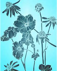 Blue sky blooms