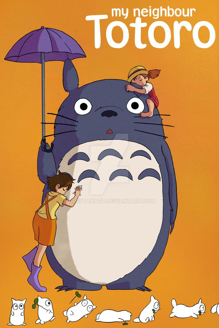 My neighbour Totoro Fan-art by GreytanArt