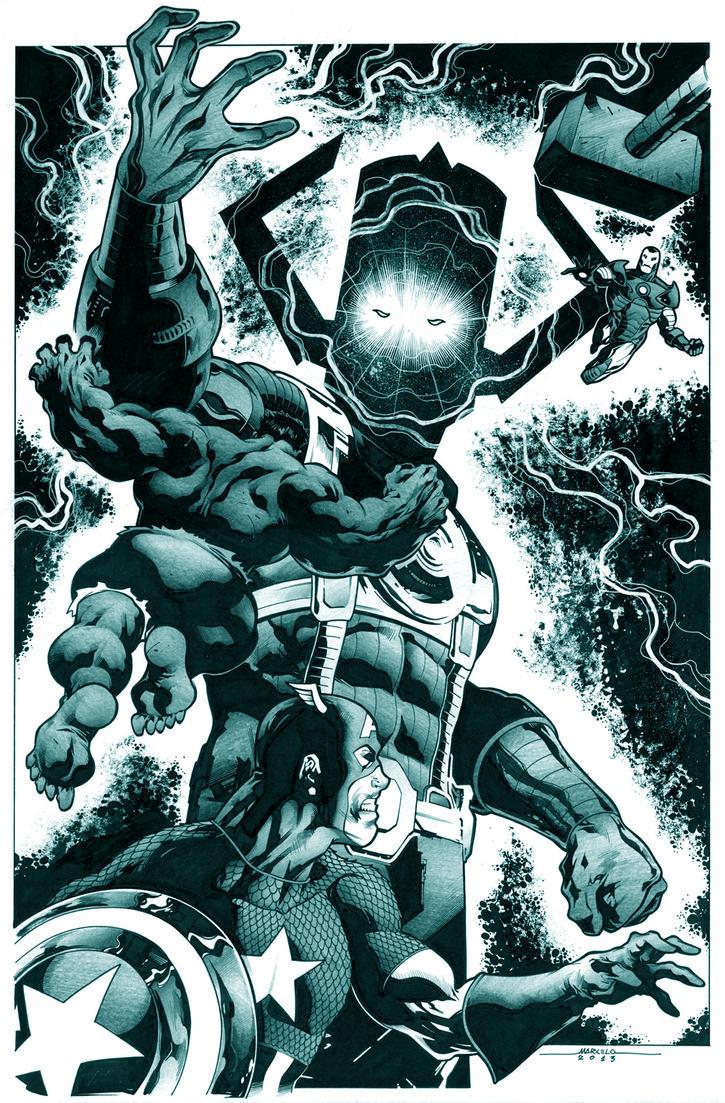 avengers vs galactus by marcelomueller on DeviantArt