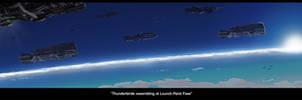 Thunderbirds Assembling at Launch Point Foss by HeavyMetalDesigner