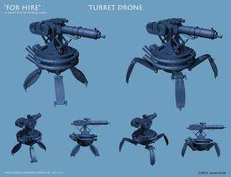 'For Hire' - Turret Drone by HeavyMetalDesigner