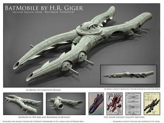 H.R. Giger Batmobile Concept by HeavyMetalDesigner