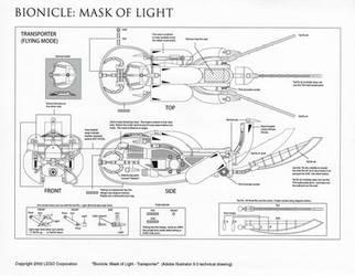Bionicle Rahkshi Transporter (Control drawing) by HeavyMetalDesigner