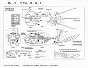 Bionicle Rahkshi Transporter (Control drawing)