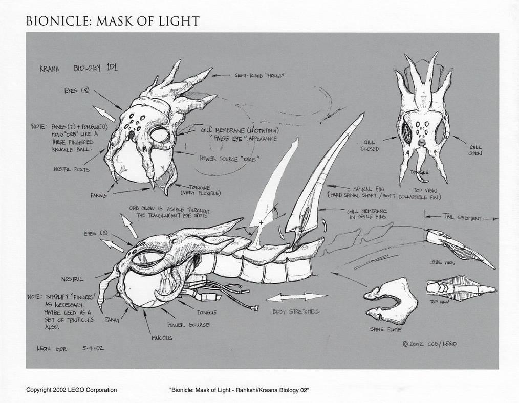 Bionicle Rahkshi Head Concept 02 by HeavyMetalDesigner