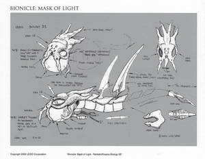 Bionicle Rahkshi Head Concept 02