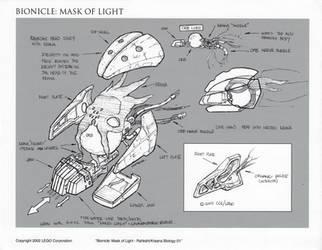 Bionicle Rahkshi Head Concept 01 by HeavyMetalDesigner