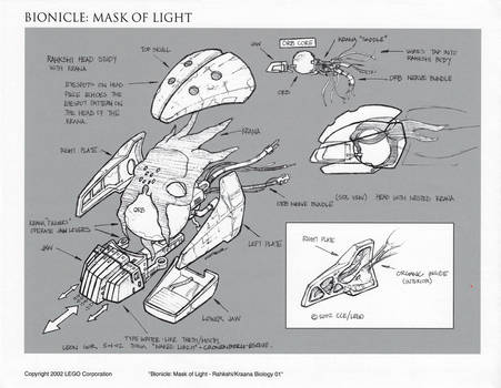 Bionicle Rahkshi Head Concept 01