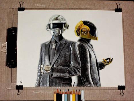 Daft Punk Drawing