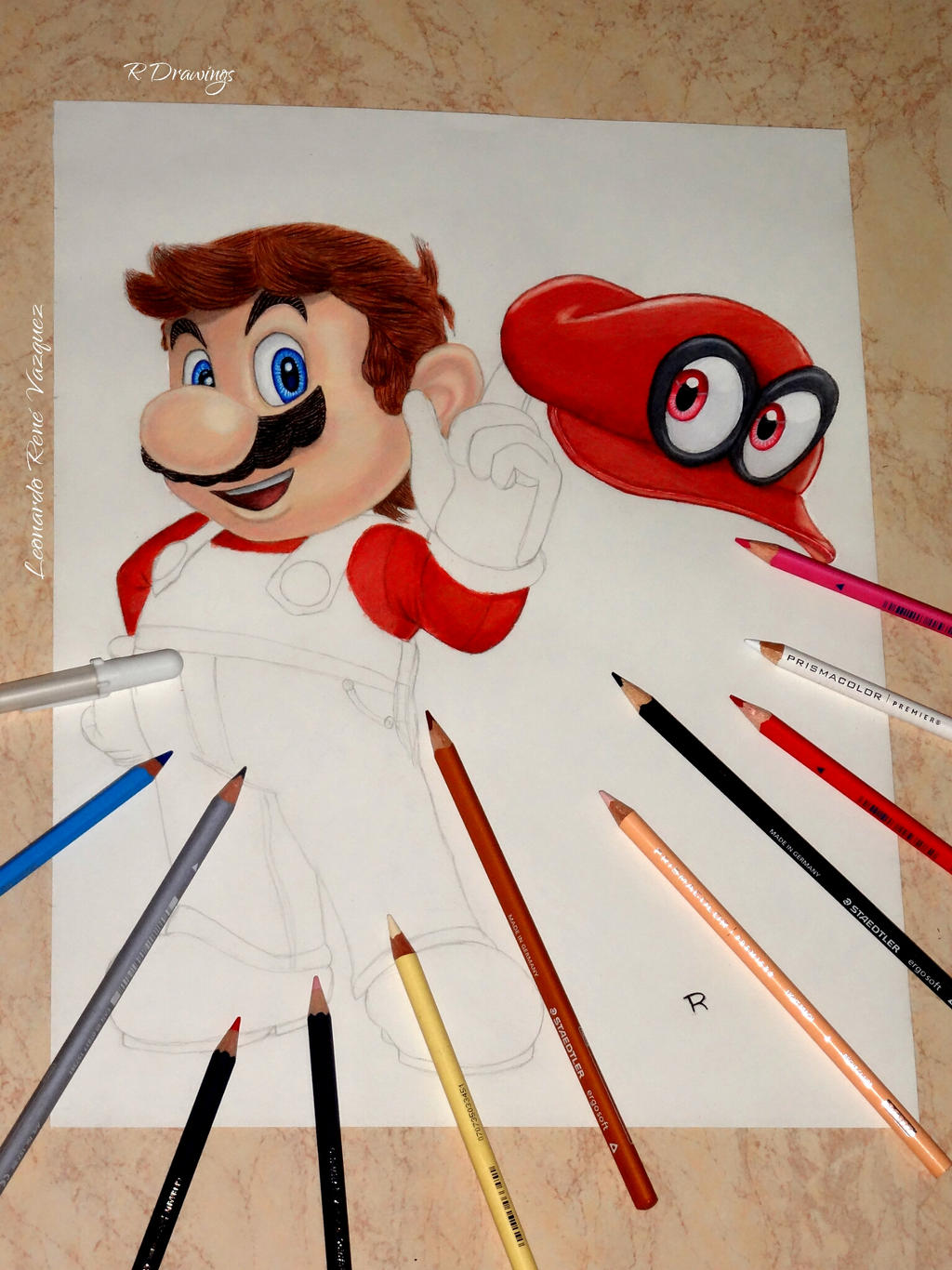 Mario Drawing Process By Rdrawings25 On Deviantart