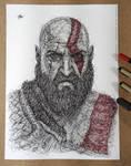 Kratos (God of War 4) Scribble