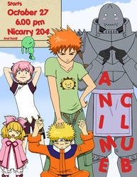 Anime Club Flyer by TsukikoRain