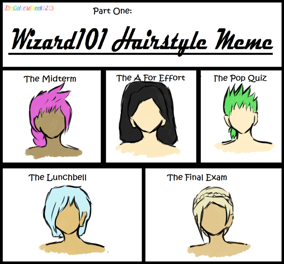 W101 Hairstyle Meme by umbraqueen on DeviantArt - Hairstyle Wizard