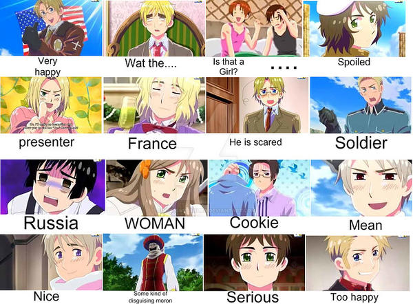 Anime Characters React Fanfiction : How my stephbrother reacts to hetalia characters by