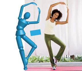 3D cubic ballerina bleu/blue