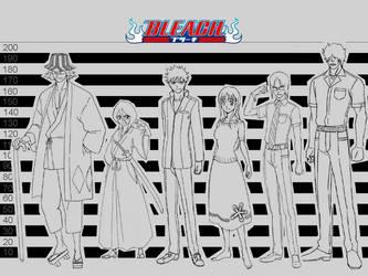 Bleach Character size comparison