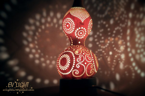 MEGICUAN gourd lamp night by EvaLightArt