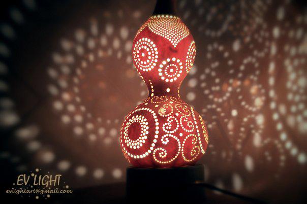 MEGICUAN gourd lamp night by EvaLightArt