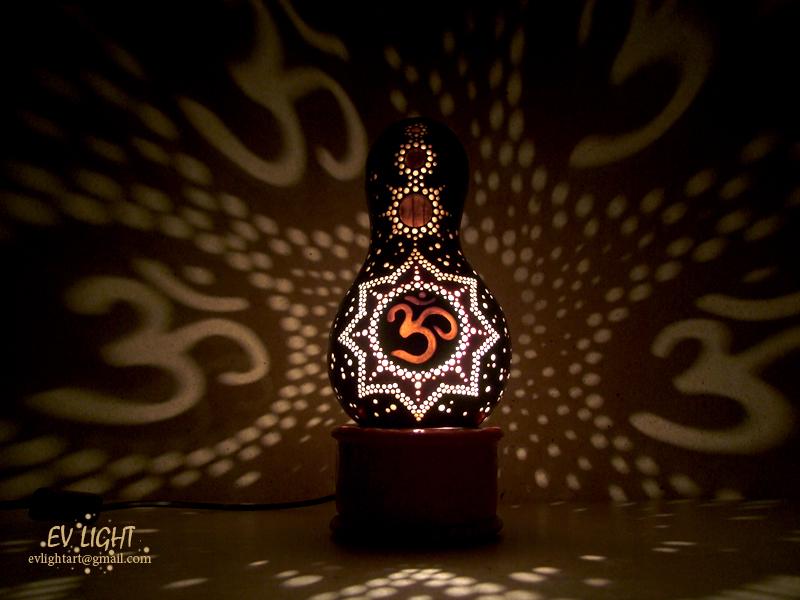 AUM II Gourd Lamp Night By EvaLightArt ...