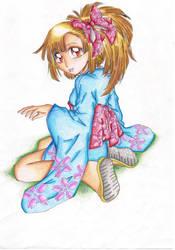 Girl in Mini Kimono