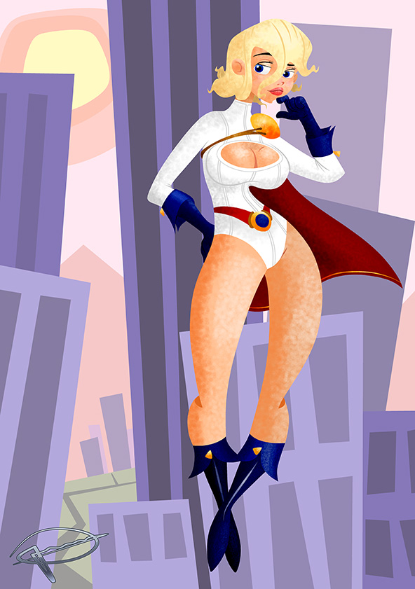 Power Girl - Coloured by MillerBox