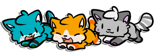 Stupid Trio Chibis by azuremon by TheCookieDoggy
