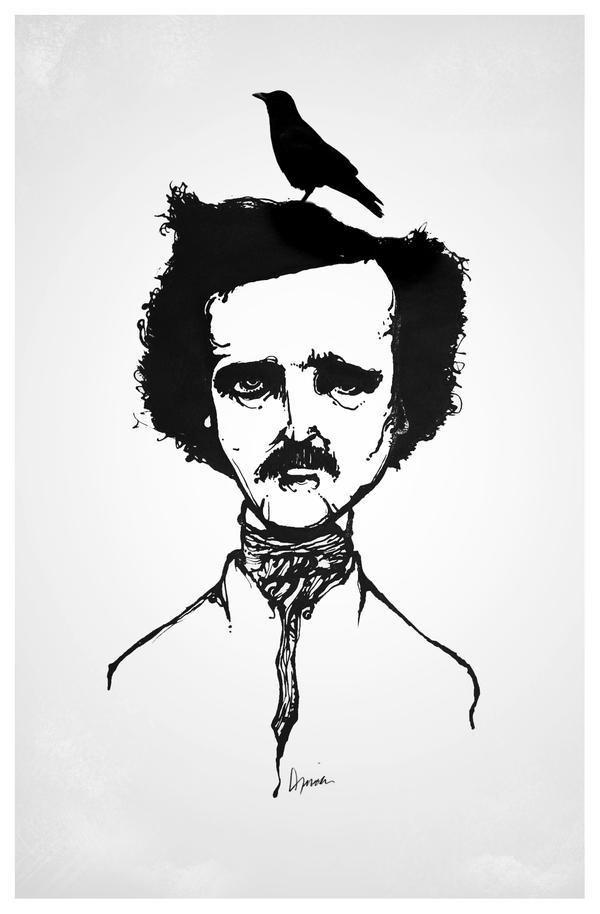 Edgar Allan Poe by Sirxlem